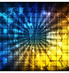 abstract light rays technology communicate vector image