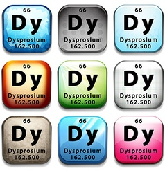 The chemical element dysprosium vector