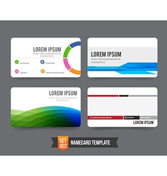 Business card template set 002 vector