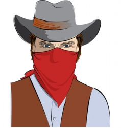 cowboy in mask vector image