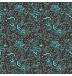 Paisley ethnic pattern vector