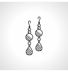 Black icon for earrings vector image