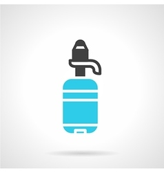 Water bottle black and blue flat icon vector