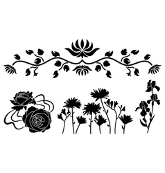 Flower decorative elements vector