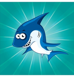 Funny shark vector