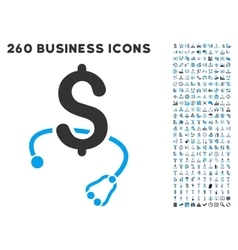 Medical business icon with flat set vector