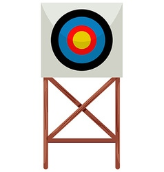 Shooting target on white background vector
