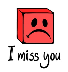 Miss you face vector
