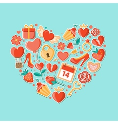 Background with heart for Valentines day vector image