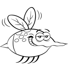 Cartoon flying insect vector
