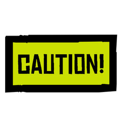 Caution sticker stamp vector
