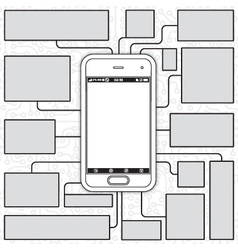 Cellphone blueprint vector