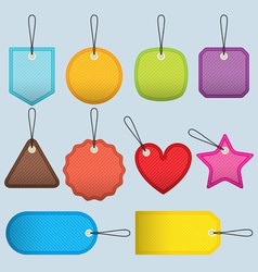 cloth tags vector image vector image