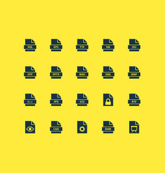 Document icons set collection of backup ico xml vector