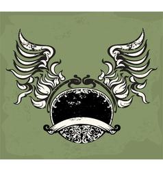 Emblem wing sign vector