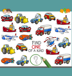 Find one of a kind activity game vector