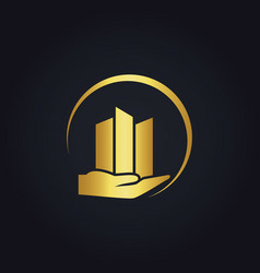 Gold business finance logo vector