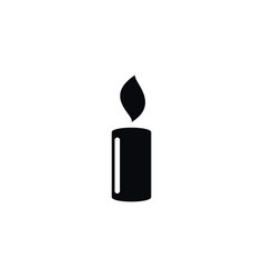 Isolated candlelight icon lightup element vector