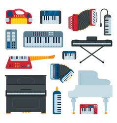 keyboard musical instruments musician equipment vector image