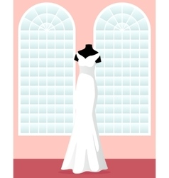 mermaid wedding dress on mannequin in saloon vector image vector image