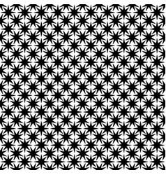 Monochrome seamless abstract geometric star vector