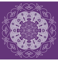 Ornamental round entwined pattern vector image