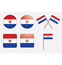 Paraguay Flag Badge vector image vector image