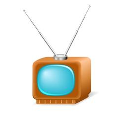 Retro TV vector image vector image