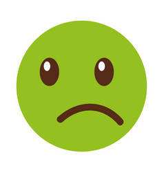 sad emoticon face kawaii style vector image vector image