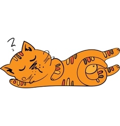 Sleeping cute kitten vector