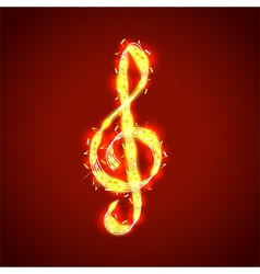 Treble clef of notes musical background vector image vector image