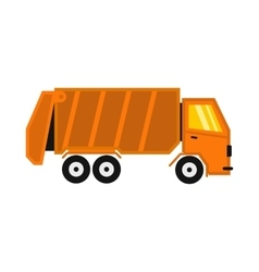 Truck for garbage icon flat style vector image vector image