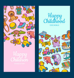 vertical banner or flyer templates with kid vector image vector image