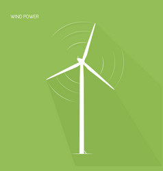 Wind turbine tower green energy logo icon vector