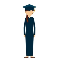 Man graduation graduated icon vector