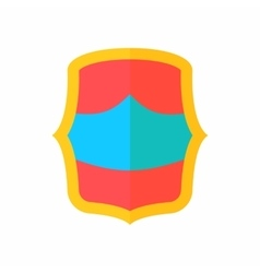 Red-blue battle shield icon flat style vector