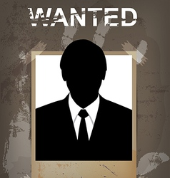 Grunge wanted poster vector