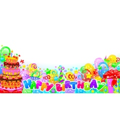 Birthday horizontal composition vector