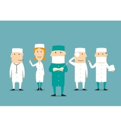 Medical professional occupation characters vector