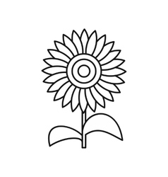 Sun flower icon outline style vector