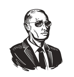 Putin president of russia vector