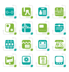 Stylized business and internet icons vector
