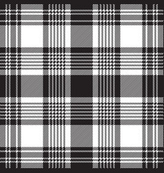 black checkered plaid seamless pattern vector image