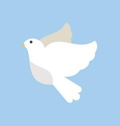 dove flying bird cartoon cute vector image