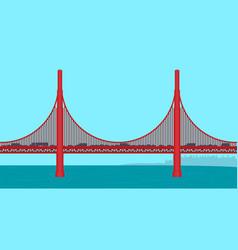 golden gate bridge flat vector image