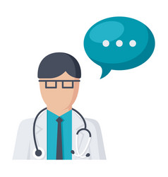 Doctor ask icon vector