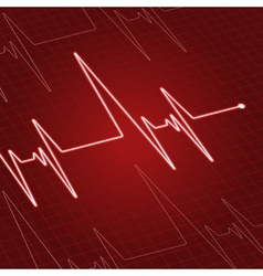 Close up heartbeat on screen vector