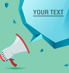 Megaphone voice advertise text bubble vector