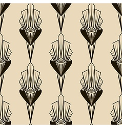 Seamless antique pattern geometric art deco vector