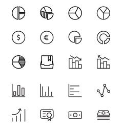 Finance line icons 11 vector
